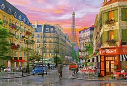 Rue Paris, D. Davidson, 5000 pcs Paris Jigsaw Puzzle