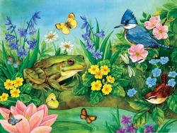 Garden Pond Reptiles and Amphibians Jigsaw Puzzle