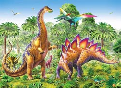 Ready, Set, GLOW! - Dinosaurs Dinosaurs Children's Puzzles