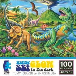 Dino Volcano (Ready, Set, GLOW!) Dinosaurs Children's Puzzles