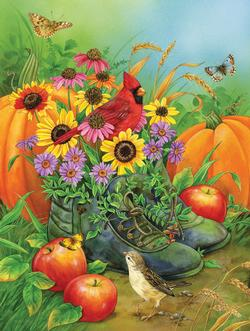 Boots Bouquet Food and Drink Jigsaw Puzzle