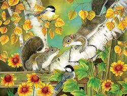 Autumn Romance Wildlife Jigsaw Puzzle