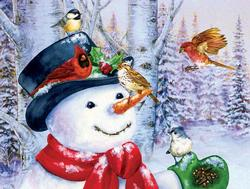 Sweet Snowman Winter Jigsaw Puzzle