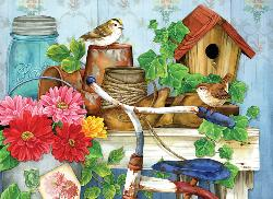 The Old Garden Shed Birds Jigsaw Puzzle