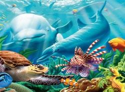 Seavillians (Undersea) Dolphins Children's Puzzles