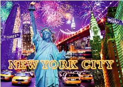 Colorful New York (Starline Glow) United States Jigsaw Puzzle