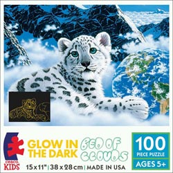 Bed of Clouds (Schimmel Glow) Snow Children's Puzzles