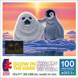 Friends Around the World (Schimmel Glow) Snow Children's Puzzles