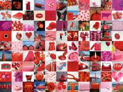 99 Beautiful Red Things Collage Jigsaw Puzzle