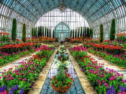 Atrium Garden - Scratch and Dent Garden Jigsaw Puzzle