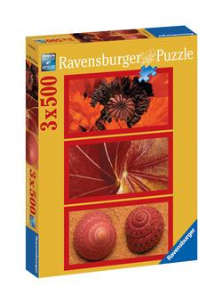 Natural Impressions in Red Nature Jigsaw Puzzle