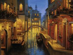Waters of Venice Boats Jigsaw Puzzle