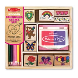 Friendship Wooden Stamp Set Valentine's Day