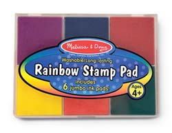 Rainbow Stamp Pad Arts and Crafts