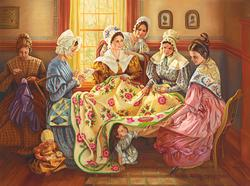 Ladies Quilting Day People Jigsaw Puzzle
