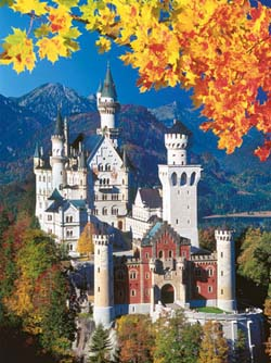Neuschwanstein Castle In Autumn Germany Jigsaw Puzzle