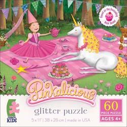 Princess & Unicorn (Pinkalicious Glitter Puzzle) Picnic Children's Puzzles