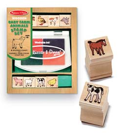 Baby Farm Animals Stamp Set Farm Animals Educational Toy