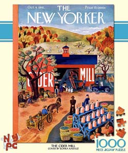 The Cider Mill (The New Yorker) Magazines and Newspapers Jigsaw Puzzle