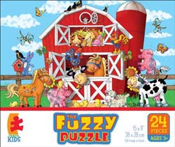 Barnyard (Fuzzy Puzzle) Farm Animals Children's Puzzles