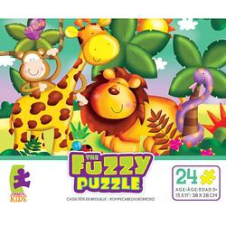 Jungle Animals (Fuzzy Puzzle) Farm Animals Children's Puzzles