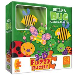 Bugs (3D Fuzzy Puzzle & Playset) Butterflies and Insects Children's Puzzles