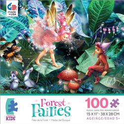 Fairy, Elf & Mice (Forest Fairies) Fantasy Jigsaw Puzzle