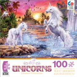 Unicorn Waterfall Sunset (Unicorns) Waterfalls Jigsaw Puzzle