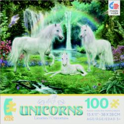 Rainbow Unicorn Family (Unicorns) Waterfalls Jigsaw Puzzle