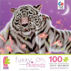 Furry Friends - I Love You, Mom Tigers Jigsaw Puzzle