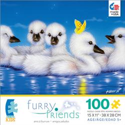 Furry Friends - White Angels Lakes / Rivers / Streams Jigsaw Puzzle