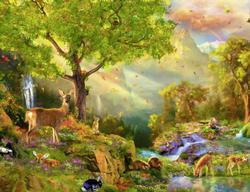 Idyllic Wildlife Forest Jigsaw Puzzle