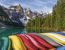 Mountain Canoes Boats Jigsaw Puzzle