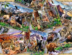 Postcard Parks Deer Jigsaw Puzzle