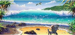 Cast Away Seascape / Coastal Living Panoramic