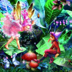 Fairies With Elves And Mice (Glitter) Fairies Children's Puzzles