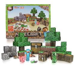Overworld Deluxe Set (Minecraft Paper Craft) Video Game Toy