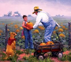 Grandpa's Pumpkins Fall Jigsaw Puzzle