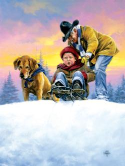 Grandpa's Idea Snow Jigsaw Puzzle
