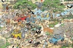 Safari Cartoons Jigsaw Puzzle