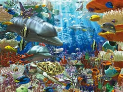 Oceanic Wonders Dolphins Jigsaw Puzzle