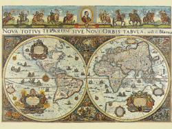 World Map, 1665, 3000 pcs Maps Jigsaw Puzzle