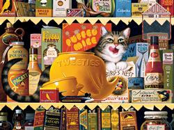 Ethel the Gourmet Cats Jigsaw Puzzle