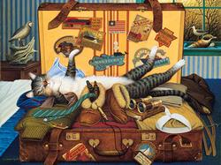 Mabel the Stowaway Cats Jigsaw Puzzle