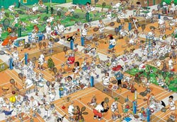 The Tennis Court People Jigsaw Puzzle