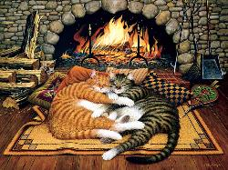 All Burned Out (Cats of Charles Wysocki) Domestic Scene Jigsaw Puzzle