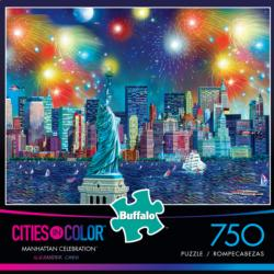 Manhattan Celebration Fireworks Jigsaw Puzzle