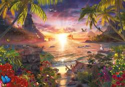 Paradise Sunset Beach Jigsaw Puzzle