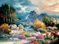 Springtime Valley Nature Jigsaw Puzzle