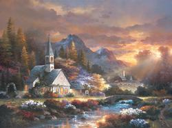 Morning of Hope Countryside Jigsaw Puzzle